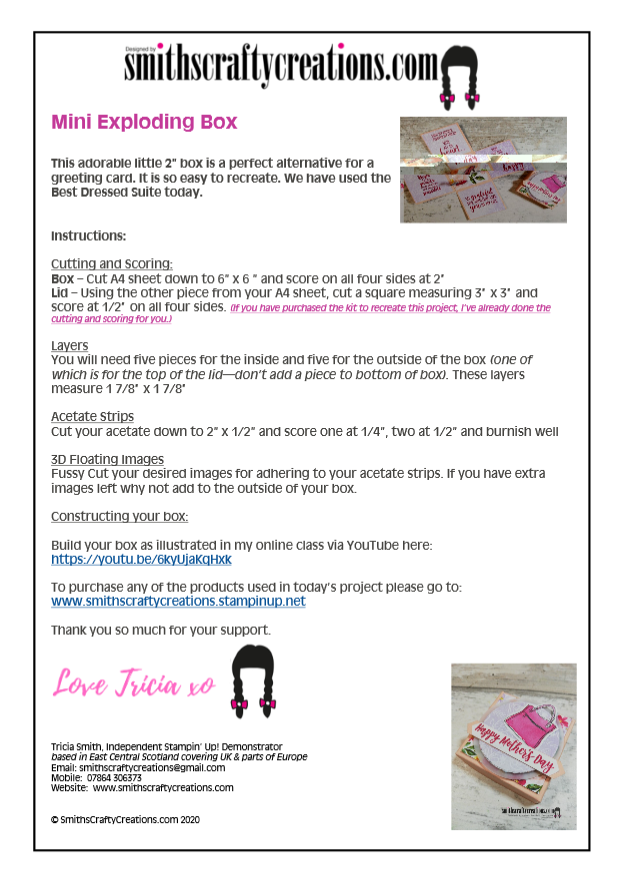 free card making instructions